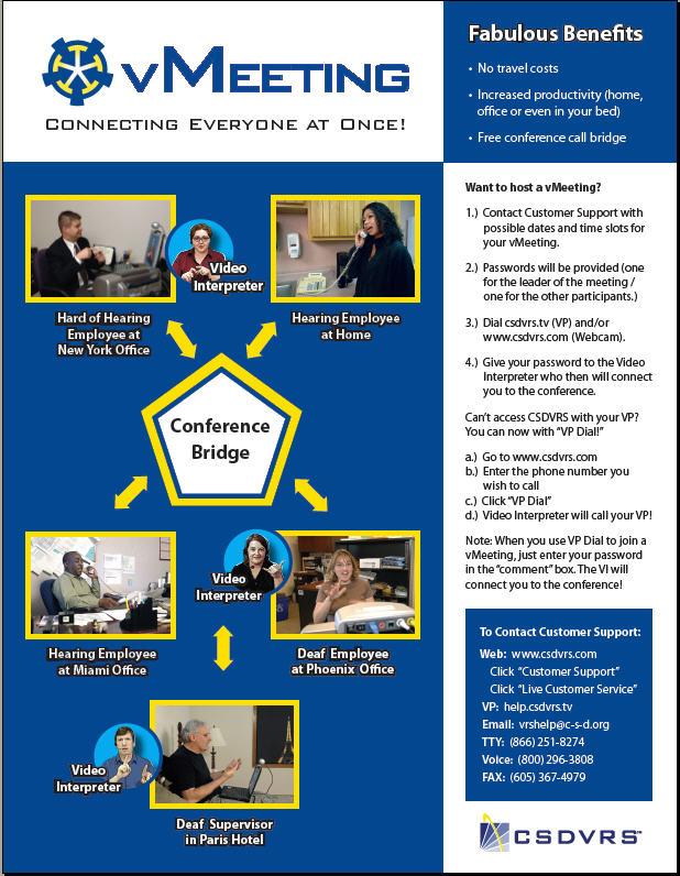 VMeeting Business version flyer