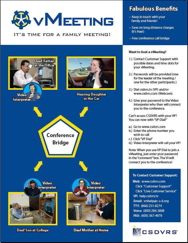 VMeeting Family version flyer