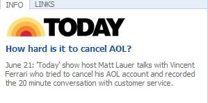 MSNBC - Cancel AOL account