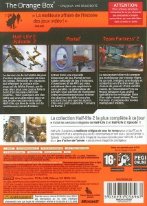 Back of Half-Life Retail Box Coverage