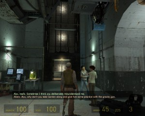 Half-Life Screenshot with Subtitle (Picture - Courtesy of DeafGamers.com)